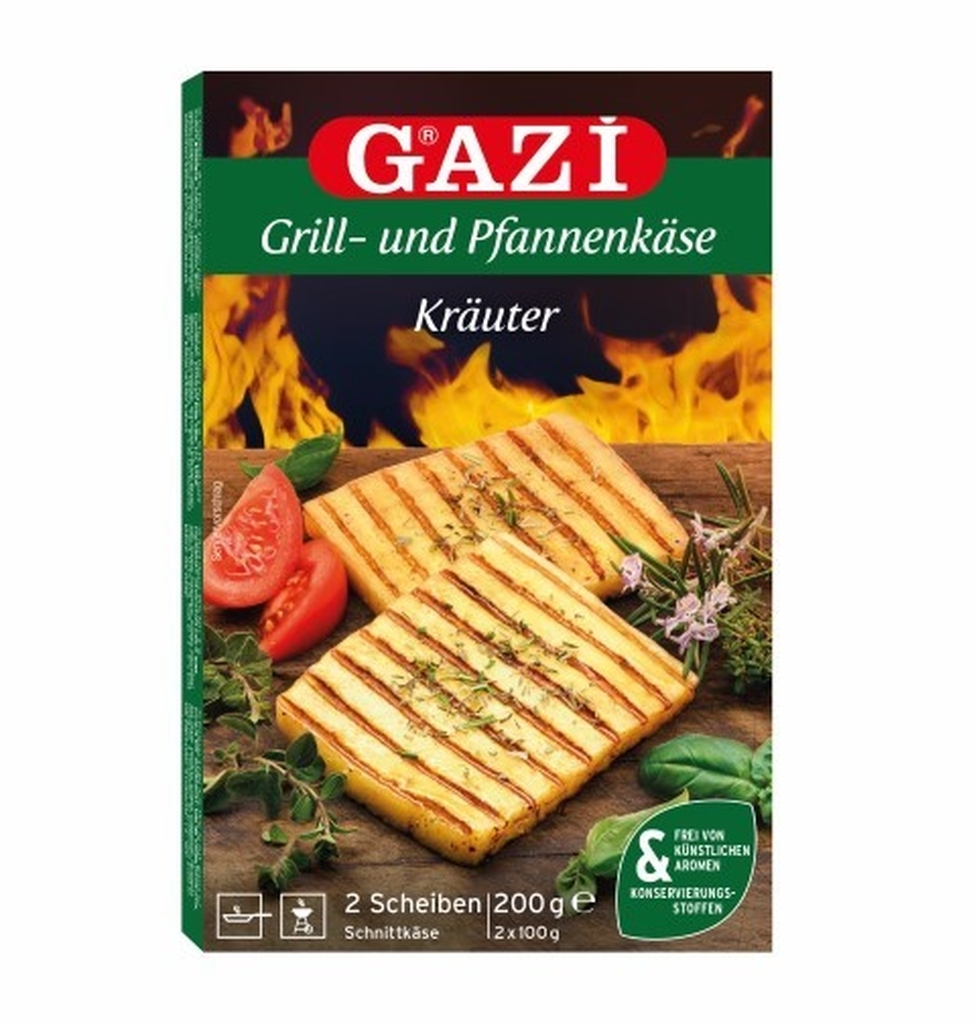 GAZI HELLIM FROMAGE A GRILLER AUX EPICES VERTS 45% 12X(2X100
