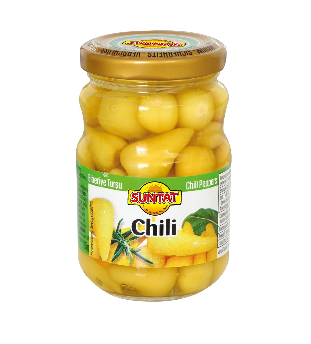 PIMENTS CHILI ROND EN SAUMURE SUNTAT 15X190ML